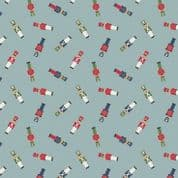 CW-X027 - Toy Soldiers on Light Blue - Lewis and Irene -  Cotton Fabric