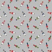 CW-X029 - Toy Soldiers on Grey - Lewis and Irene -  Cotton Fabric