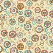Doodle Days by Makower UK - 5468 - Modern Floral on Cream - 1874_Q - Cotton Fabric