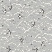 Grove by Makower UK - 6748 - Swallows on Grey - 2164_S - Cotton Fabric