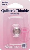 Hemline Quilters' Thimble - Size Medium