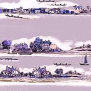 Inprint Town & Country - 3871 - Riverbank - Lilac - 7870 L50 - Cotton Fabric