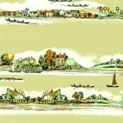 Inprint Town & Country - 3872 - Riverbank - Natural - 7870 V35 - Cotton Fabric