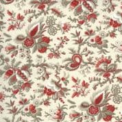 Jardin des Fleurs - 7676 - French General Floral on Pearl  - Moda  13892.18 - Cotton Fabric