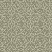 Lewis & Irene - Celtic Coorie - 6773 - Stylised Floral, Thistle in Olive - A414.1 - Cotton Fabric