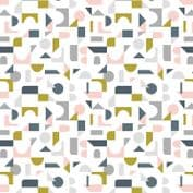 Lewis & Irene - Forme - 6933 - Scattered Geometric on Off White - A412.1 - Cotton Fabric