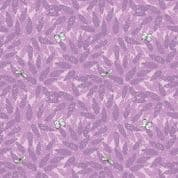 Lewis & Irene Grandma's Garden - 5291 - Buddleia, Floral in Pink & Purple  - A196.3 - Cotton Fabric