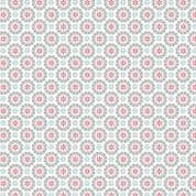 Lewis & Irene - Hygge Christmas - 5977 - Snowflakes in Red, Grey & Teal  - C27.1 - Cotton Fabric