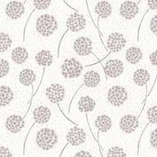 Lewis & Irene Make Another Wish - 4685 - Grey Dandelions on Off White - A59.6 - Cotton Fabric