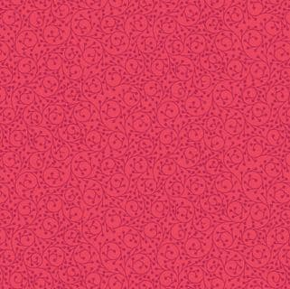 Lewis & Irene - Maya - 6811 - Vines on Red - A384.3 - Cotton Fabric