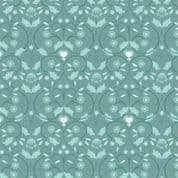 Lewis & Irene - Michaelmas - 6833 - Stylised Floral in Teal - A402.1 - Cotton Fabric