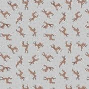 Lewis & Irene - Small Things Country Creatures - 6144 - Deer on Grey  - ASM11.1 - Cotton Fabric