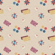 Lewis & Irene Small Things Craft - 7368 - Quilting on Natural SM36.1 - Cotton Fabric