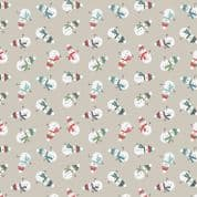 Lewis & Irene - Snow Day - 5962 - Snowmen on Pale Grey, Pearlescent - C35.1 - Cotton Fabric