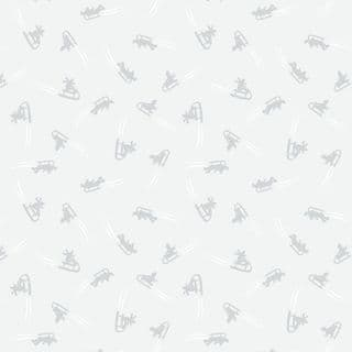 Lewis & Irene - Snow Day - 5968 - Sledging on Pale Grey, Pearlescent - C37.1 - Cotton Fabric