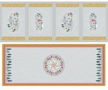 Lewis & Irene - Snow Day - 6002 - Table Centre & Placemats Grey & Mustard - C40.2 - Cotton Fabric