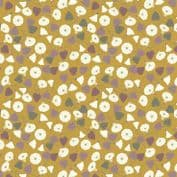 Lewis & Irene The Hedgerow - 5562  - Floral Vine on Mustard Yellow - A254.1 - Cotton Fabric
