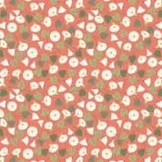 Lewis & Irene The Hedgerow - 5563  - Floral Vine on Coral - A254.2 - Cotton Fabric