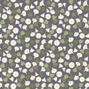 Lewis & Irene The Hedgerow - 5564  - Floral Vine on Dark Greyl - A254.3 - Cotton Fabric