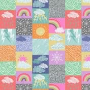 Lewis & Irene - Whatever The Weather - 6406 - Weather Collage, Multi Lights - A370.1 - Cotton Fabric