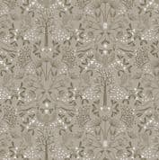 Lewis & Irene - Winter in Bluebell Wood - 6693 -  Animals, Brown on Taupe - C44.3 - Cotton Fabric