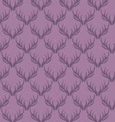 Loch Lewis - 7566 - Lewis & Irene A157.4 -  Purple Antlers Cotton Fabric