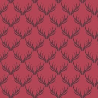 Loch Lewis - 7567 - Lewis & Irene A157.5 -  Red Antlers Cotton Fabric