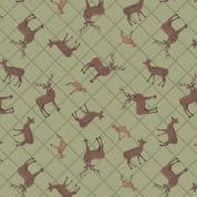 Loch Lewis - 7575 - Lewis & Irene A540.1 -  Sage Green Deer Check Cotton Fabric