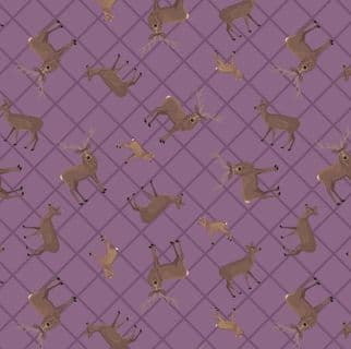 Loch Lewis - 7576 - Lewis & Irene A540.2 -  Purple Deer Check Cotton Fabric