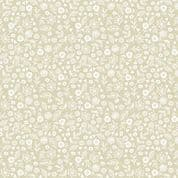 Makower Essentials - Q7 1911 - White on-Oyster Ditzy Floral