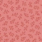 Makower UK - Little Sweetheart - 6070 - Windswept Floral, Red on Pink - 8511_E - Cotton Fabric