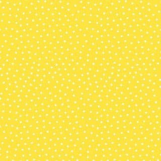 Makower UK - Star Bright - 7169 - White Stars on Bright Yellow  Background - 9166 Y2 - Cotton Fabric