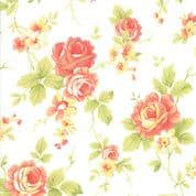 Moda - Catalina  by Fig Tree - 7243 - Roses on Off White Background - 20370.15 - Cotton Fabric