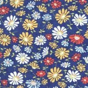 Moda - Catalina  by Fig Tree - 7244 - Daisies on Dark Blue Background - 20371.12 - Cotton Fabric