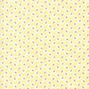 Moda - Catalina  by Fig Tree - 7250 - Rosebuds on Soft Yellow  Background - 20372.18 - Cotton Fabric