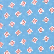 Moda - Catalina  by Fig Tree - 7252 - Red Cherries on Sky Blue Background - 20373.13 - Cotton Fabric