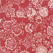Moda - Chafarcani by French General - 6856 - Carmine Floral on Red - 13850 11 - Cotton Fabric