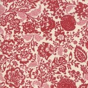 Moda - Chafarcani by French General - 6857 - Carmine Floral on Cream - 13850 13 - Cotton Fabric