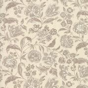 Moda - Chafarcani by French General - 6864 - Claret Floral Taupe on Cream - 13853 13 - Cotton Fabric