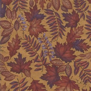 Moda - Country Charm by Holly Taylor - 7053 - Foliage on Pumpkin - 6791 14 - Cotton Fabric