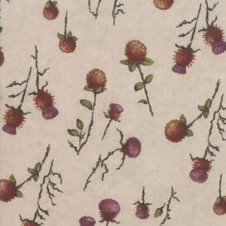 Moda - Country Charm by Holly Taylor - 7054 - Thistle on Oat - 6792 12 - Cotton Fabric