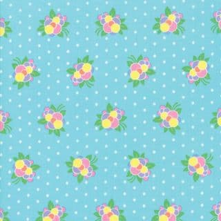 Moda - Good Day  - 6792 -  Modern Floral, Flower Pop on Turquoise - 22373 12 - Cotton Fabric