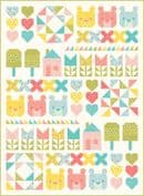 "Moda - Home Sweet Home Quilt Top Kit - by Stacy Iest Hsu - Finished Size 47"" x 64"" - KIT20570"