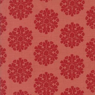 Moda Madam Rouge by French General - 5691 - Floral Circles on Red - 13773 13 - Cotton Fabric