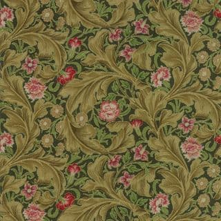 Moda - Morris Holiday Metallic - 5880 - V&A Leicester Floral on Green - 7313 15M - Cotton Fabric