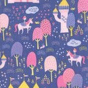 Moda - Once Upon a Time - Stacey Iest Hsu - 6235 - Palace Grounds, Purple - 20592 20 - Cotton Fabric
