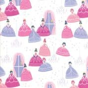 Moda - Once Upon a Time - Stacey Iest Hsu - 6236 - Grand Ball on White - 20593 11 - Cotton Fabric