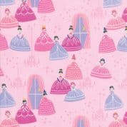 Moda - Once Upon a Time - Stacey Iest Hsu - 6237 - Grand Ball on Pink - 20593 12- Cotton Fabric