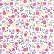 Moda - Once Upon a Time - Stacey Iest Hsu - 6240 - Garden Floral on White - 20594 11 - Cotton Fabric
