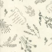 Moda - Prairie Grass - Holly Taylor - 6255 - Scattered Grass on Cream - 6751 14 - Cotton Fabric